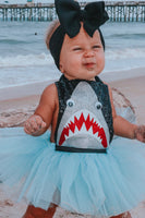 Shark inspired Romper