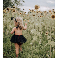Lady Bug Sequins Tulle Romper