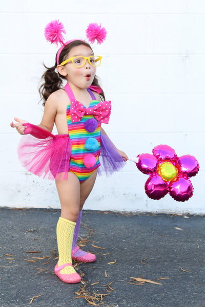 Rainbow Clownin Around Tulle Romper