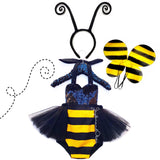 Sequins Bumble Bee Tulle Romper