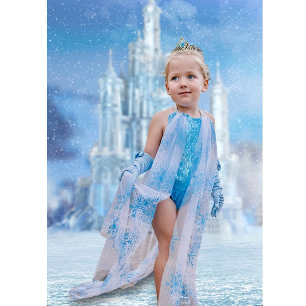 *NEW* Queen Elsa FROZEN Romper with attached CAPE!