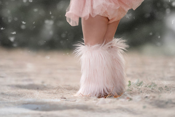 *Limited Edition* BLUSH Faux Fur Leg Warmers