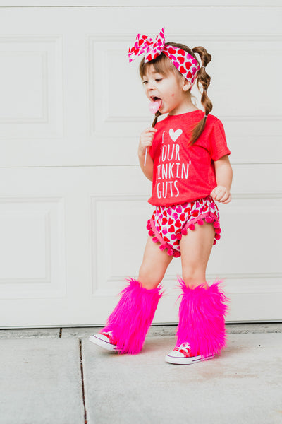 Hot Pink Faux Fur Leg Warmers