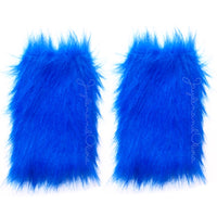 "Royal Blue ""Cookie Monster"" Faux Fur Leg Warmers"