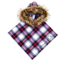 FLANNEL Harvest Plaid HOODED Poncho