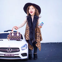 Cheetah FAUX FUR Cape Vest