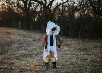 VELVET Arctic White *HOODED* FAUX FUR Cape Vest