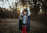 VELVET Moonlight Blue HOODED Cape