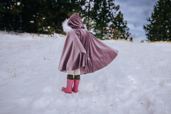 VELVET Sugar Plum HOODED Cape
