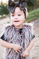 Shaggy Brown Faux Fur Vest