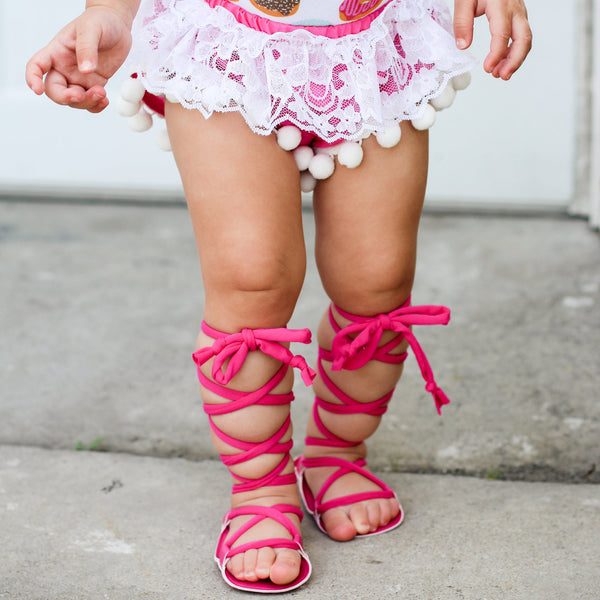 Fuchsia Gladiator Sandals