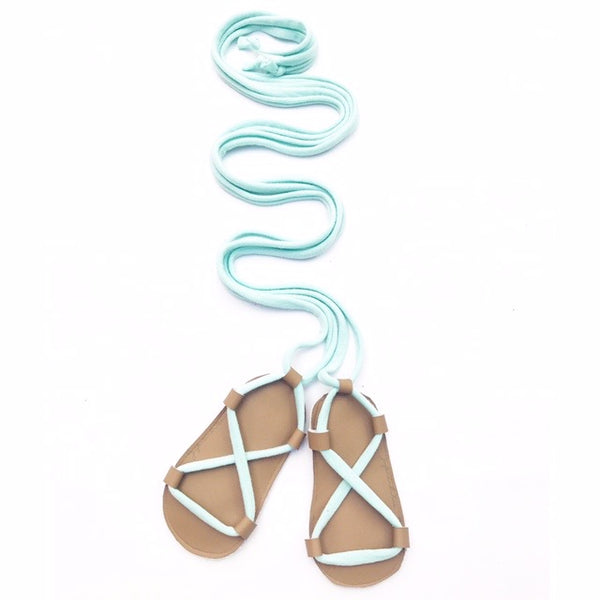 Tan & Mint Gladiator Sandals