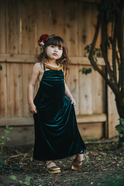 WinterGreen Velvet Dress