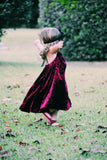 Cranberry Crushed Velvet Dress