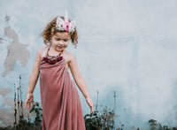 Dusty Rose Velvet Dress