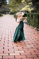 Wintergreen Crushed Velvet Dress