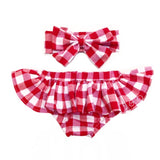 Lrg Red & White Gingham Bloomer Skirt