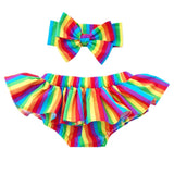 Rainbow Stripes Bloomer Skirt