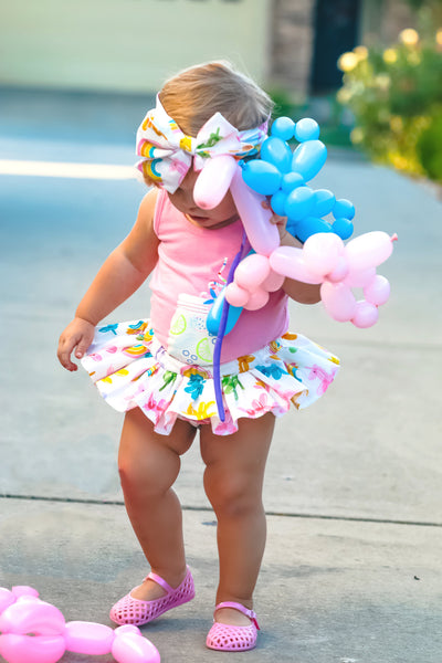 Rainbow Balloon Animals Bloomer Skirt