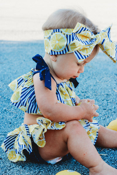 Lemon Stripes Bloomer Skirt