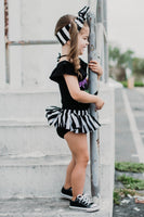 Black & White Stripe Bloomer Skirt