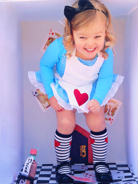 DELUXE Alice in Wonderland inspired Romper & Apron