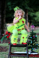 """The Grinch"" Christmas Tree Faux Fur Leg Warmers"