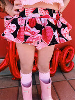 Black Love Donuts VALENTINES Bloomer Skirt