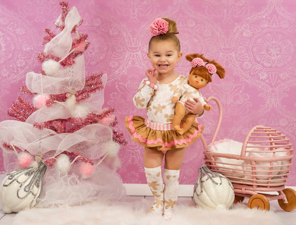 Baby Pink GingerBread Icing Bloomer Skirt