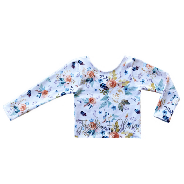 Ivory Autumn Floral Long Sleeve Top (Child)