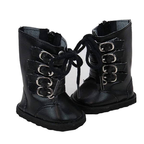 Minikane Black Buckle Boots