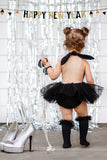 NEW YEARS EVE *ALL* Silver Tuxedo Romper