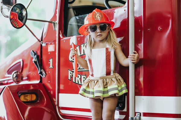 Firefighter inspired Romper