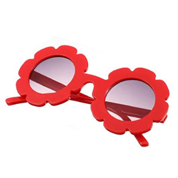 Kid's RED Flower Shaped Sunglasses