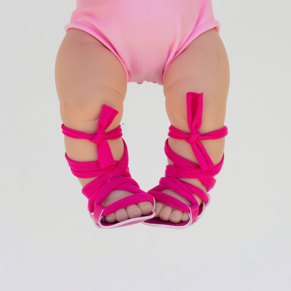 Hot Pink Minikane Gladiator Sandals