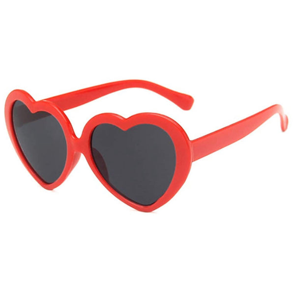 Kid's RED Heart Shaped Sunglasses