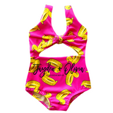 Hot Pink Rubber Ducky One piece