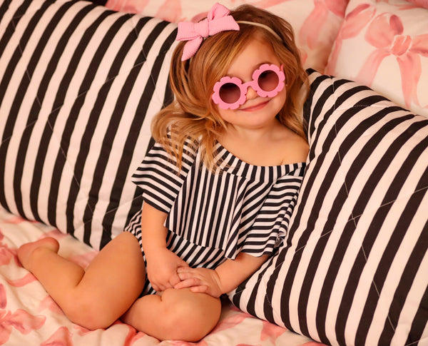 Kid's BABY PINK Flower Shaped Sunglasses