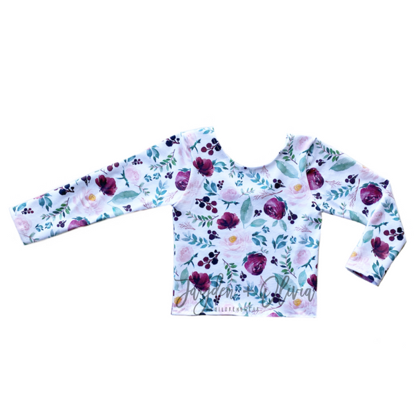 White Cranberry Autumn Floral Long Sleeve Top (Child)
