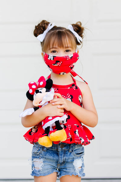 (KIDS) Classic Red Minnie Face Mask