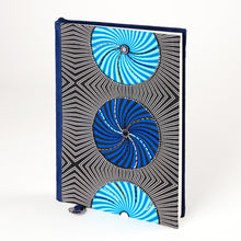 "Load image into Gallery viewer, Notebook Wrapped in Kitenge Fabric, Large- ""Pipi"""