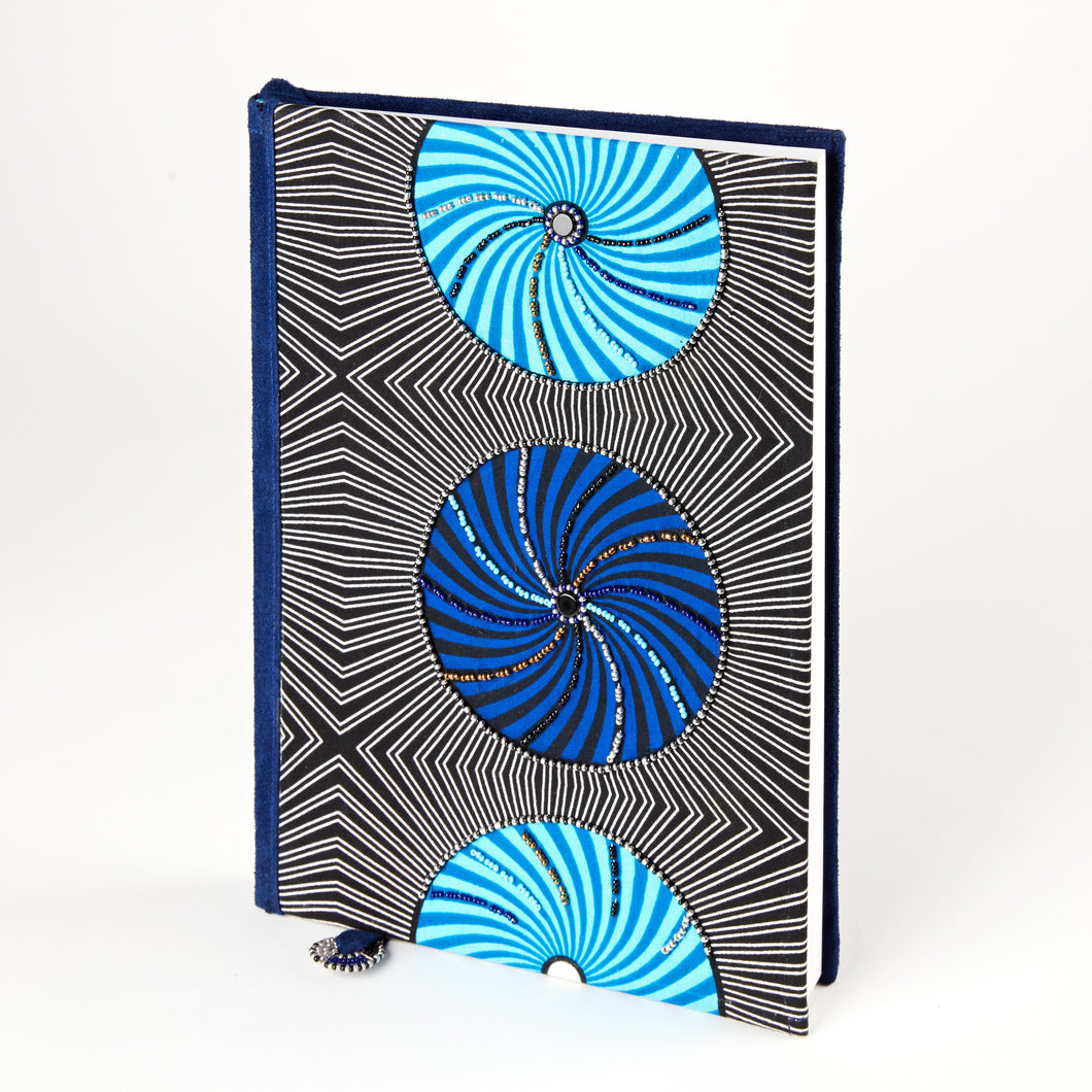 Notebook Wrapped in Kitenge Fabric, Large-