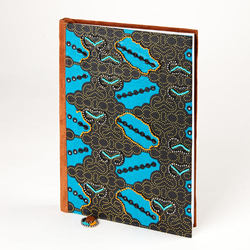 Notebook Wrapped in Kitenge Fabric, Large- Jambo