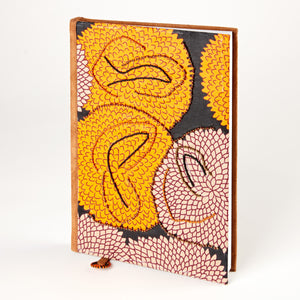 "Notebook Wrapped in Kitenge Fabric, Large- ""Equinox"""