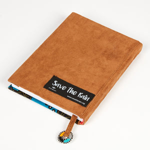 "Notebook Wrapped in Kitenge Fabric, Medium- ""Jambo"""