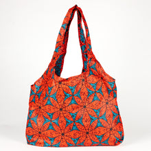 "Load image into Gallery viewer, Compact Kitenge Tote Bag- ""Crystals"""