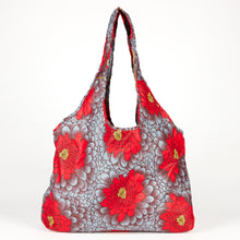 "Load image into Gallery viewer, Compact Kitenge Tote Bag- ""Dahlia"""