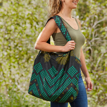 "Load image into Gallery viewer, Compact Kitenge Tote Bag- ""Crop Circles"""