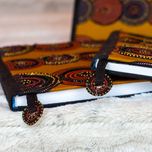 "Notebook Wrapped in Kitenge Fabric, Large- ""Misc"""