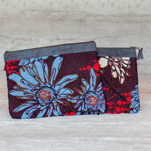 "Zipper Pouch- ""Poppies"""